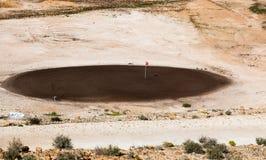 De cursus van het woestijngolf stock foto
