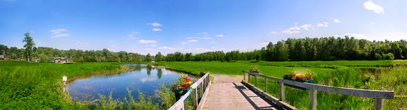 De cursusmening van het golf Stock Foto's