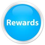 De cyaan blauwe ronde knoop van de beloningenpremie Stock Foto