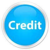De cyaan blauwe ronde knoop van de kredietpremie Royalty-vrije Stock Afbeelding
