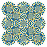 De Cyclus van de Rotatie van de optische illusie (Vector) Royalty-vrije Stock Afbeeldingen