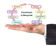 De cyclus van het contractleven stock fotografie