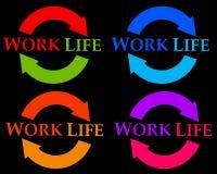 De cyclus van het het werkleven Stock Fotografie