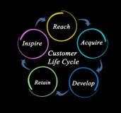 De cyclus van het klantenleven stock foto