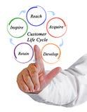 De cyclus van het klantenleven royalty-vrije stock afbeelding