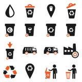 De déchets icônes simplement Photographie stock libre de droits