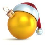 Or de décoration de babiole de nouvelle année d'ornement de boule de Noël illustration de vecteur