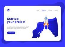 De démarrage votre projet avec l'explorateur de vaisseau spatial illustration libre de droits