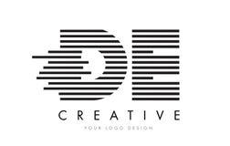 DE D E zebry listu loga projekt z Czarny I Biały lampasami Fotografia Royalty Free