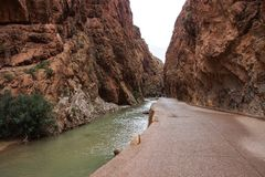 De Dadeskloof is een kloof van Dades-Rivier in Atlasbergen in Marokko royalty-vrije stock fotografie