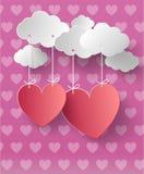 De dag abstracte achtergrond van de valentijnskaart Stock Afbeelding