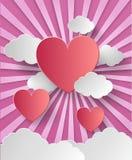 De dag abstracte achtergrond van de valentijnskaart Royalty-vrije Stock Foto's