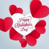 De dag abstracte achtergrond van de valentijnskaart Eps 10 Stock Foto