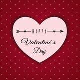 De dag abstracte achtergrond van Valentine ` s met gesneden document harten Royalty-vrije Stock Afbeeldingen