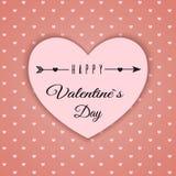 De dag abstracte achtergrond van Valentine ` s met gesneden document harten Royalty-vrije Stock Afbeelding