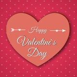 De dag abstracte achtergrond van Valentine ` s met gesneden document harten Royalty-vrije Stock Foto