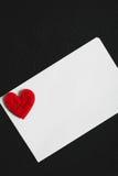 De dag abstracte achtergrond van Valentine ` s met Witboekkaart voor te Stock Afbeelding