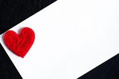 De dag abstracte achtergrond van Valentine ` s met Witboekkaart voor te Royalty-vrije Stock Afbeelding