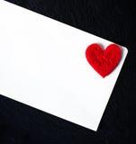 De dag abstracte achtergrond van Valentine ` s met Witboekkaart voor te Stock Fotografie