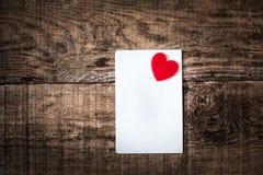 De dag abstracte achtergrond van Valentine ` s met Witboekkaart voor te Stock Foto's