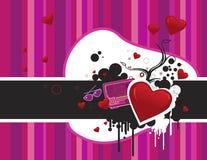 De dag abstracte samenstelling van de valentijnskaart stock illustratie