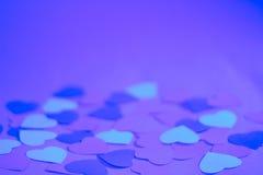 De dag blauwe achtergrond van valentijnskaarten Royalty-vrije Stock Fotografie