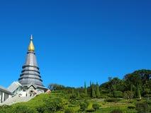 De dag blauwe hemel van Nice, Doi Suthep, Chang Mai, Thailand royalty-vrije stock foto