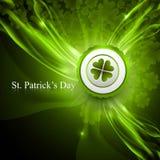 De dag glanzende groene kleurrijk van heilige Patrick stock illustratie
