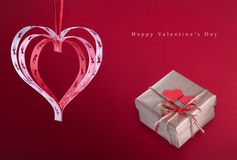 De dag goede felicitatiekaart van Valentine ` s Stock Foto's