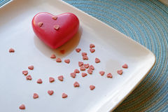 De dag groot en klein hart van Valentine in landschap Royalty-vrije Stock Afbeeldingen