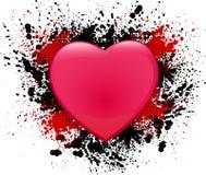 De dag grunge achtergrond van de valentijnskaart vector illustratie