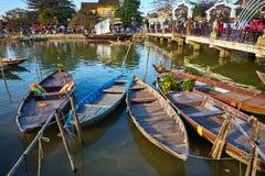 De dag in Hoi An-stad Stock Afbeeldingen