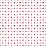 De Dag naadloos patroon van Heilige Valentine van waterverf rood harten Royalty-vrije Stock Fotografie