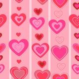 De dag naadloos patroon van valentijnskaarten. hart Stock Fotografie