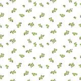 De Dag naadloos patroon van waterverfheilige Patrick ` s Het ornament van de klaver Voor ontwerp, druk of achtergrond Royalty-vrije Stock Afbeeldingen