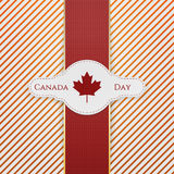 De Dag nationale Markering van Canada met rood Lint royalty-vrije illustratie