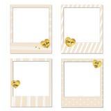 De dag Polaroid- kaders van gelukkig Valentine Stock Foto's