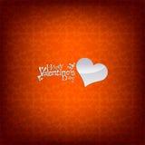 De dag rode kaart/achtergrond van de valentijnskaart Royalty-vrije Stock Fotografie