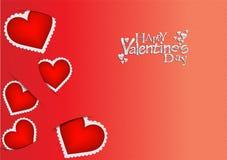 De dag rode kaart/achtergrond van valentijnskaarten Stock Fotografie