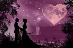 De dag romantische atmosfeer van Valentine royalty-vrije illustratie
