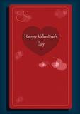 De dag romantische kaart van Valentine ` s met de verwijderde decoratie van de hartvorm Stock Foto's