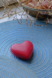 De dag rood hart van Valentine in portret Royalty-vrije Stock Foto
