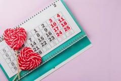 De dag roze achtergrond van Valentine ` s stock foto