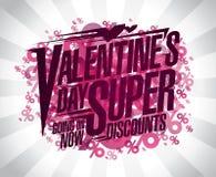 De dag super kortingen van Valentine ` s Stock Foto's