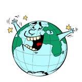 De Dag van de aarde Gelukkige blije planeet royalty-vrije illustratie