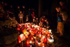 De dag van alle Heiligen, Pezinok, Slowakije Stock Foto