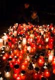 De dag van alle Heiligen, Pezinok, Slowakije Royalty-vrije Stock Afbeeldingen