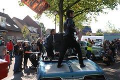 De dag van Amerikanen in lepelstraat in Nederland stock foto