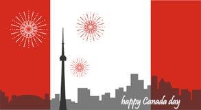 De Dag van Canada Canadese Vlag De vlucht van de vogel - 1 Royalty-vrije Stock Afbeelding