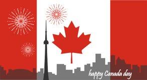 De Dag van Canada Canadese Vlag De vlucht van de vogel - 1 Stock Afbeelding